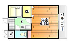 ベルメゾン一須賀 1号館[1階]の間取り