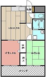 グローハイツII[202号室]の間取り