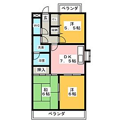グレイス中平[2階]の間取り
