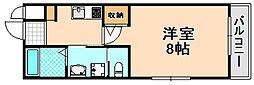 兵庫県伊丹市平松5丁目の賃貸マンションの間取り
