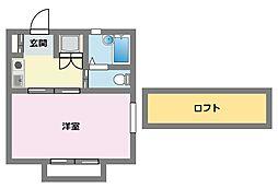 クレールI[1階]の間取り