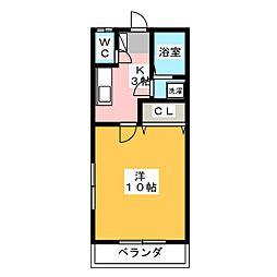 小川ハイツ7[2階]の間取り