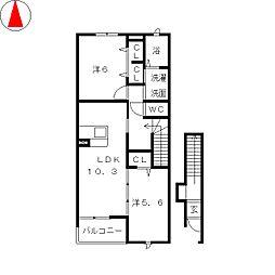 KFKアルバIII[2階]の間取り