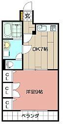 コスモス小倉駅前II 11階1DKの間取り