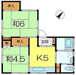 服部荘[2階]の間取り