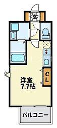 福岡市地下鉄七隈線 渡辺通駅 徒歩4分の賃貸マンション 6階1Kの間取り