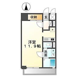 愛知県稲沢市北市場本町4の賃貸マンションの間取り