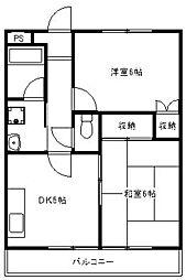 相模中央マンション[3階]の間取り