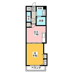 サンドーリエ[4階]の間取り
