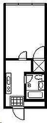 第一久保ビル[303号室]の間取り