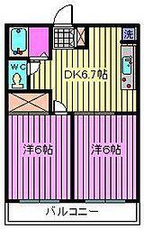 ヴィラージュ大和田[1階]の間取り