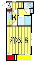カサス鎌倉[1階]の間取り