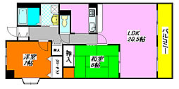 ベルビュー 30B号室[3階]の間取り