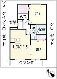 ウッドストック[3階]の間取り
