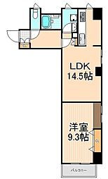 東京都台東区駒形1丁目の賃貸マンションの間取り