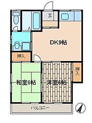 アルスK&TII[2階]の間取り