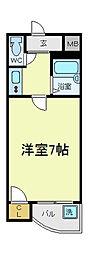 オーキッドコート阿倍野橋[10階]の間取り