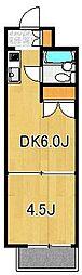 カーサ博多[424号室]の間取り