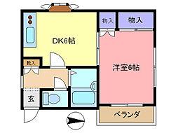 松尾ハイツ[102号室]の間取り