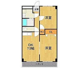 ラ・宝塚[3階]の間取り