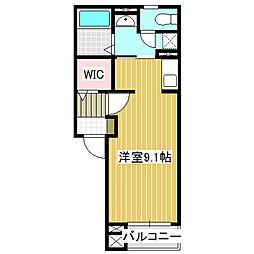 愛知県名古屋市中川区南脇町1丁目の賃貸アパートの間取り