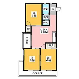 六本木ホームズ[3階]の間取り