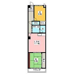 HOUSE松本II[1階]の間取り