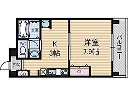 エステート茨木駅前[7階]の間取り