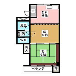 第2平野ビル[1階]の間取り