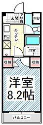 長野県長野市稲田1丁目の賃貸マンションの間取り