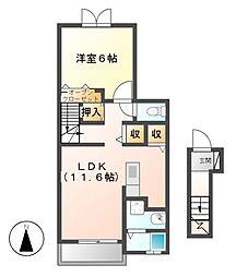 インプレス東起II[2階]の間取り