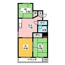霞ヶ丘ビル[5階]の間取り