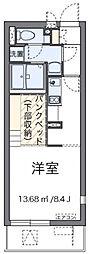 東京都足立区入谷2丁目の賃貸アパートの間取り