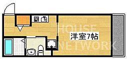 ウエストミンスター御所西(旧suminagi御所西) 1階1Kの間取り