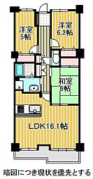 愛知県名古屋市千種区富士見台3丁目の賃貸マンションの間取り