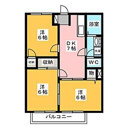 シティハイツマロン[2階]の間取り