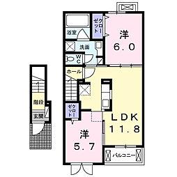 キャトル セゾンIII[2階]の間取り