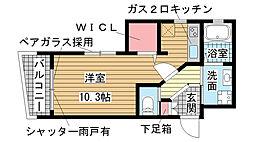 兵庫県神戸市須磨区須磨浦通6丁目の賃貸アパートの間取り