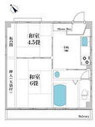 伊志井マンション[2F号室]の間取り