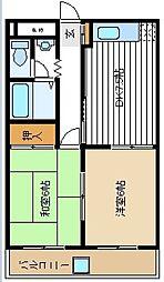 タケダハイツ[203kk号室]の間取り