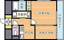 アベニュー黒崎[4階]の間取り