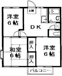 堀コーポラス[203号室]の間取り