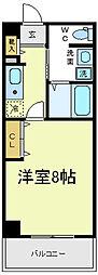 ビガーポリス118東田辺[4階]の間取り