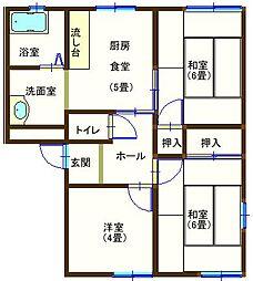 ラフォーレ福居5 106号室[1階]の間取り