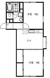 サンビューヒルズ4[1階]の間取り