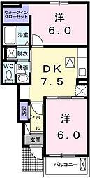 ブリーゼ一番館[1階]の間取り