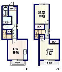 [テラスハウス] 東京都杉並区和田2丁目 の賃貸【東京都 / 杉並区】の間取り