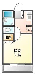 ツインリーブスA[1階]の間取り