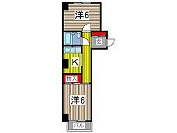 ベルメゾン並木[3階]の間取り