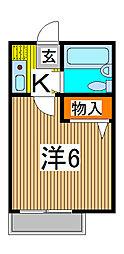 タウンコートニシカワグチ[2階]の間取り